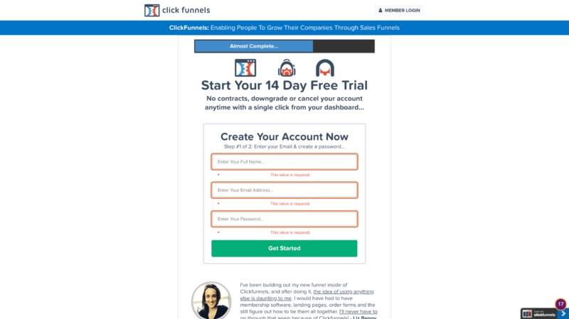 Example 03 ClickFunnels Sales Funnel